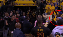 Fans Brawl In The Stands As LeBron Walks Into The Locker Room (VIDEO)