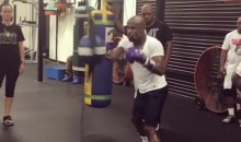 Floyd Mayweather May Be Old, But He's Still Fast AF (Video)