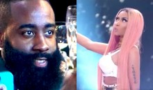 Internet Reacts to James Harden's Thirsty Stare at Nicki Minaj (Tweets)
