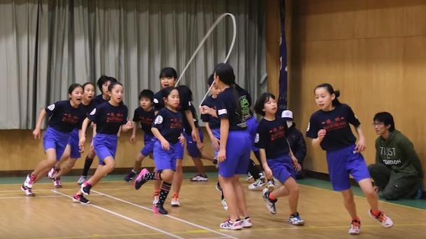 japanese kids guinness jump rope record