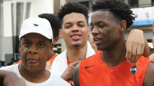 jay-z nephew dunks on #1 high school player in country