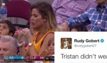 Rudy Gobert Hilariously Trolls Tristan Thompson Over Khloe Kardashian During Game 4 (TWEET)
