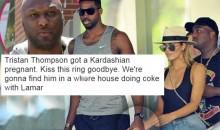 Social Media Reacts To Tristan Thompson Reportedly Getting Khloe Kardashian Pregnant (TWEETS)