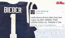 Internet Mocks Ole Miss for Shamelessly Sending Jersey to Justin Bieber (Tweets)