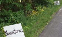 Akron Teacher Places Signs with Positive Messages Outside LeBron's Ohio Home (Pic)
