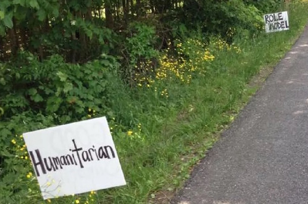 teacher posts positive messages in front of lebron james ohio house