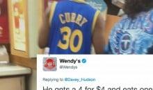 Wendy's Makes '3-1 Lead' Joke At Expense of Warriors Fan In Full Gear (TWEET)