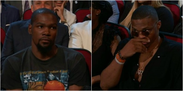 b710346582c Kevin Durant Was NOT Feeling This Joke By Peyton Manning At The ...
