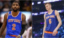 Kristaps Porzingis Endorses Kyrie Irving Coming To The New York Knicks (PIC)