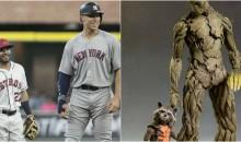 Social Media Had Field Day Joking About 6'7″ Aaron Judge Standing Next To 5'6″ Jose Altuve (TWEETS)