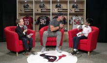 Little Kids Ask Brian Cushing and J.J. Watt 'Who Had the Best Bloody Face?' (Video)
