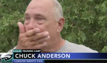 Carson Wentz Fans Brought To Tears After Seeing QB At Training Camp (VIDEO)