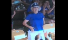Rally Grandma Flashes Crowd on Jumbotron at Dodgers Game (VIDEOS)