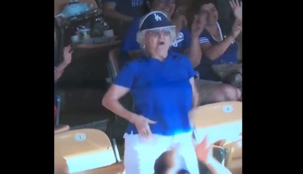 Dodgers Grandma Flash