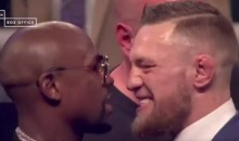 Floyd Mayweather Calls Conor McGregor a F*ggot at London Presser (VIDEO)