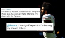 Baltimore Ravens Fans Threaten To Not Support Team If They Sign Colin Kaepernick (TWEETS)