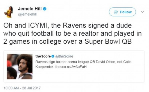 Jemele Hill, who co-hosts the 6pm hour of SportsCenter,