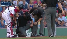 Josh Donaldson Hits Umpire in the Head With His Bat (VIDEO)