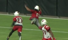 Still Got It! Larry Fitzgerald Lays Out For Amazing One-Handed Catch (VIDEO)