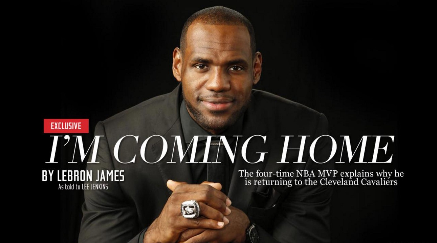 lebron james i m coming home analysis Lebron james returns to cleveland here's lebron's greatest moments with the cavaliers song is to build a home by the cinematic orchestra & coming home .