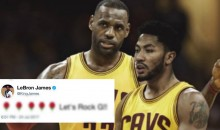 LeBron James Seems To Be Excited About the Derrick Rose Signing (TWEET)