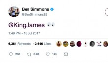 The Sixers' Ben Simmons Tweeted at LeBron, and People Are Making WAY Too Much of It (Tweets)