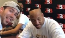 LaVar Ball Rocked a Yarmulke Because a Fan Asked Him To (Video)