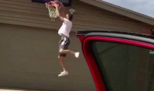 Here's Proof That The #DriveByDunkChallenge Doesn't Always Go Smoothly (Video)