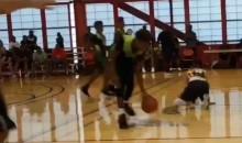 LeBron James Jr. Breaks Opponent's Ankles As Daddy Looks On (Video)