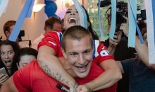 Gronk Summer Party Tour Rolls Back Into Boston so Pats Superstar Can Hang with Demi Lovato (Pics + Videos)