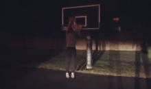 Kentucky Head Coach John Calipari Joins In On The Drive-By Dunk Challenge (VIDEO)