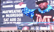 Mayweather Shows Off $100M Check, McGregor Says 'It's For The Tax Man' (VIDEO)