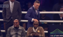 McGregor Rubs Floyd's Head, Calls Mayweather's Security 'Juice Head Monkeys' (VIDEO)