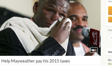 Someone Started A GoFundMe To Help Floyd Mayweather Pay His 2015 Taxes