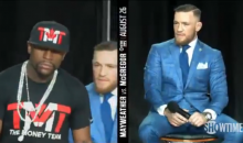 Floyd Mayweather Challenges Conor McGregor To Bet His Whole Fight Check (VIDEO)