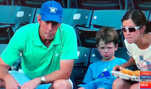 Little Boys Is Soooooo Disappointed His Dad Didn't Snag That Ball (Video)