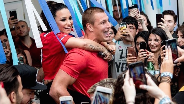 gronk and demi lovato