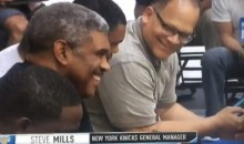 Knicks Gm Steve Mills Laughs At Carmelo Anthony's 2am Workout As They Continue To Try & Trade Him (VIDEO)