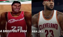 Watch As LeBron Turns From A Pixelated Mess To A Life-Like Figure Over Various Video Games (VIDEO