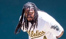 Hometown Hero Marshawn Lynch Throws Out First Pitch at Oakland A's Game (Video)