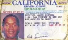 Old O.J. Simpson Driver's License Issued During Infamous Murder Trial Hits Auction Block (Pic)