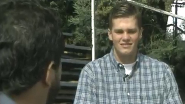 teenaged tom brady first media interview