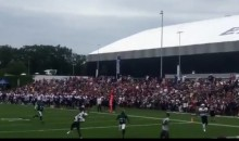 Watch As WR Brandin Cooks Hauls in a Ridiculous One-Handed TD Catch at Patriots Camp (VIDEO)