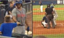 Tim Tebow Greets Autistic Fan, Then Steps To Plate & Hits 3-Run HR (VIDEO)