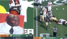 Oregon State Used 'Crying Jordan' Playcall Sign; Fumbles Immediately After (VIDEO)