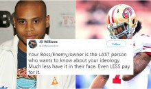 'The Wire' Actor J.D. Williams Says Kaepernick Screwed Up The Owners' Money By Kneeling During National Anthem (TWEETS)