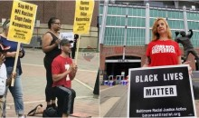 Small Group Kneels & Protests Outside Stadium For Ravens To Sign Colin Kaepernick