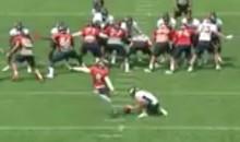 Denver Broncos Kicker McManus Nails 73-Yard Field Goal At Camp (VIDEO)