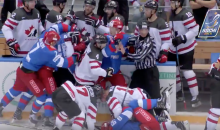 Full–Fledged Brawl Breaks Out In Canada vs. Russia Olympic Tune-Up Game (VIDEO)