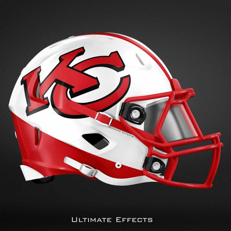 helmets nfl helmet football ultimate concept teams 32 effects awesome team uniforms creates designer cheifs totalprosports each college cool chiefs